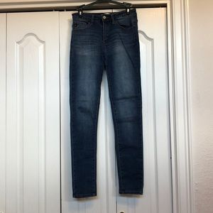 High rise skinny jeans without holes